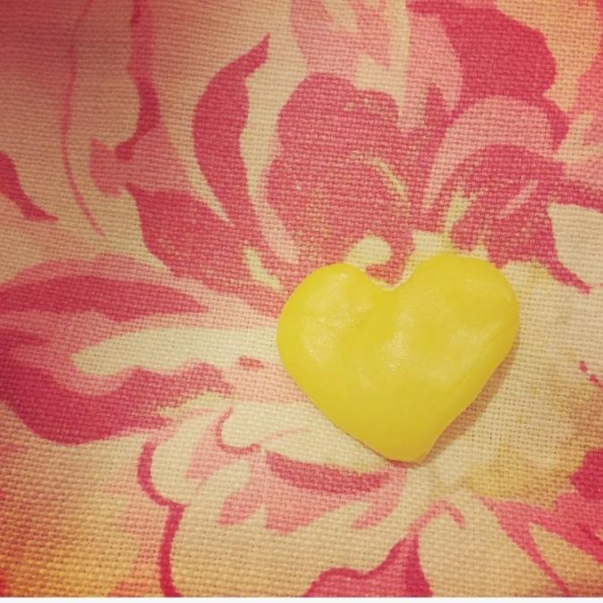 beeswax heart